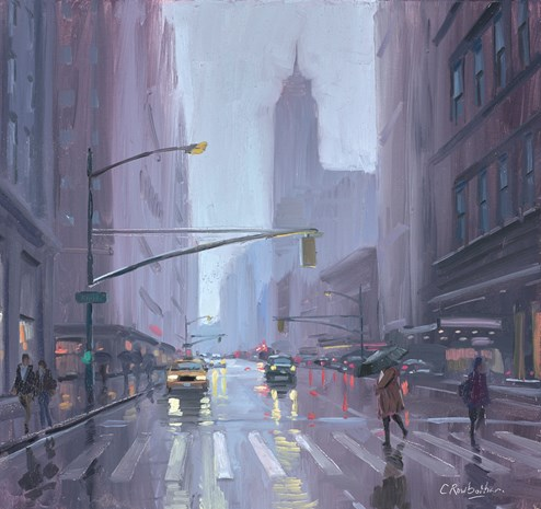 Empire State Reflections by Charles Rowbotham - Original Painting on Board